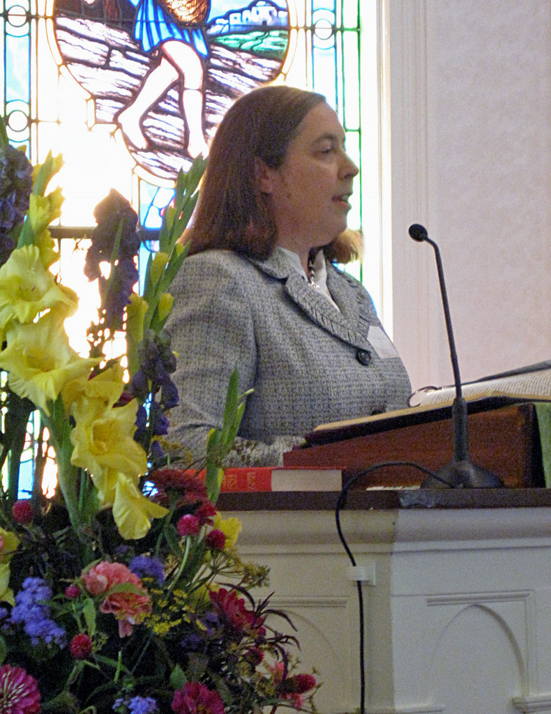 Pastor Dawn at the Pulpit