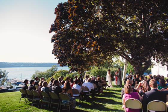 An outdoor wedding in 2016